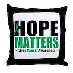 HopeMatters LiverCancer Throw Pillow
