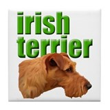 irish terrier Tile Coaster
