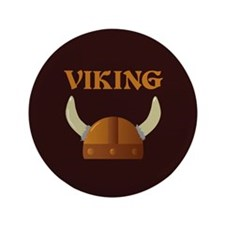 "Viking Helmet 3.5"" Button"