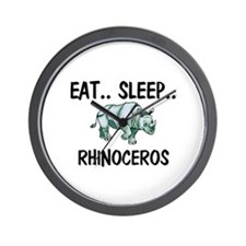 Eat ... Sleep ... RHINOCEROS Wall Clock