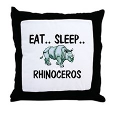 Eat ... Sleep ... RHINOCEROS Throw Pillow