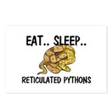 Eat ... Sleep ... RETICULATED PYTHONS Postcards (P