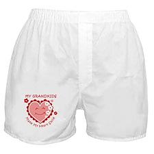 Heart Smile Grandkids Boxer Shorts