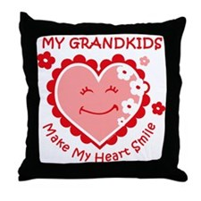 Heart Smile Grandkids Throw Pillow