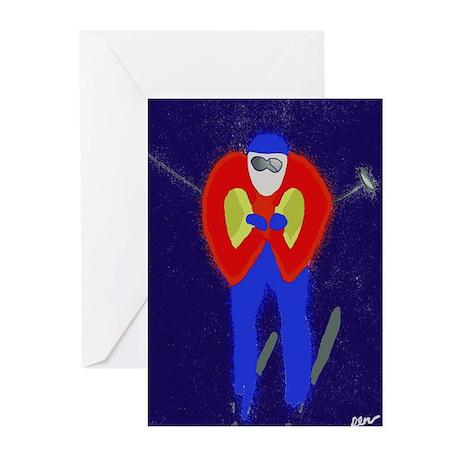 Skiing Greeting Cards (Pk of 10)