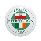 Irish Polish flags Ornament (Round)