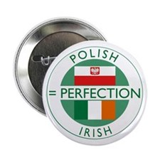 "Irish Polish flags 2.25"" Button"