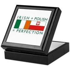 Irish Polish flags Keepsake Box