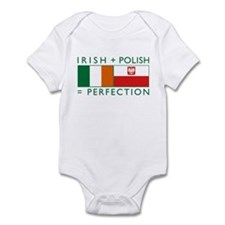 Irish Polish flags Infant Bodysuit