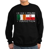 Irish Polish flags Sweatshirt