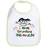 I Love Grandpa (girl) Bib