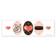 Peace Love Hockey Bumper Sticker (10 pk)