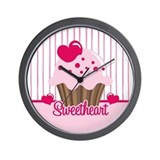 Sweetheart Cupcake Wall Clock