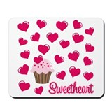 Sweetheart Cupcake Mousepad