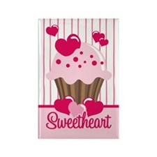 Sweetheart Cupcake Rectangle Magnet
