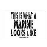 This is What a MARINE Looks L Postcards (Package o