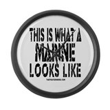 This is What a MARINE Looks L Large Wall Clock