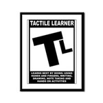 Tactile Learner Framed Panel Print