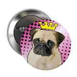 Pug Princess Button