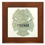 Fireman Framed Tile