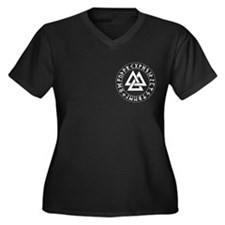 Triple Triangle Rune Shield Women's Plus Size V-Ne