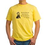 Henry David Thoreau 33 Yellow T-Shirt