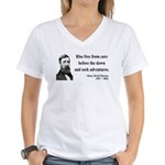 Henry David Thoreau 33 Women's V-Neck T-Shirt