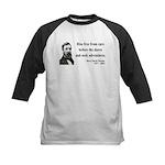 Henry David Thoreau 33 Kids Baseball Jersey