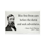 Henry David Thoreau 33 Rectangle Magnet (100 pack)