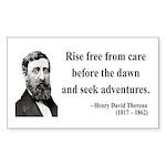 Henry David Thoreau 33 Rectangle Sticker