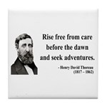 Henry David Thoreau 33 Tile Coaster
