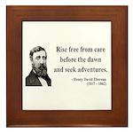 Henry David Thoreau 33 Framed Tile