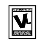 Visual Learner Framed Panel Print