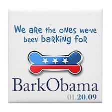 Bark Obama Inauguration Tile Coaster
