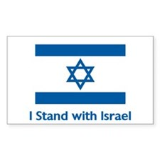 I Stand With Israel Rectangle Sticker 10 pk)
