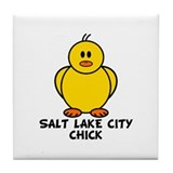 Salt Lake City Chick Tile Coaster