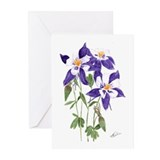 Blue Columbine Greeting Cards (Pk of 10)