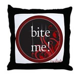 Twilight Bite Me Throw Pillow