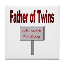 Will Work For Sleep Tile Coaster