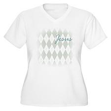Jesus: Argyle Pattern T-Shirt