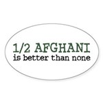 Half Afghani Oval Sticker (10 pk)
