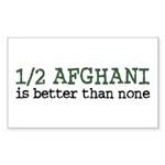 Half Afghani Rectangle Sticker