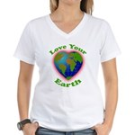 LoveYourEarth Women's V-Neck T-Shirt