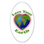 LoveYourEarth Oval Sticker (50 pk)