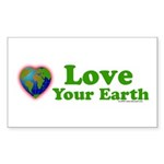 LoveYourEarth Rectangle Sticker 50 pk)
