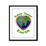 LoveYourEarth Framed Panel Print