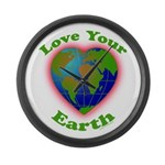 LoveYourEarth Large Wall Clock