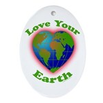 LoveYourEarth Oval Ornament