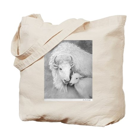 White Buffalo & Calf ~ Tote Bag
