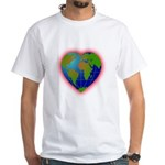 Earth Heart White T-Shirt
